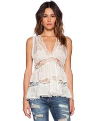Free People Deep V Trapeze Cami - Lyst
