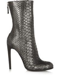 Haider Ackermann Metallic Python Ankle Boots - Lyst