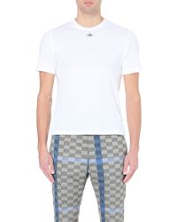 Vivienne Westwood Orb-Embroidered Cotton-Jersey T-Shirt - For Men - Lyst