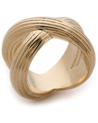 Giles & Brother - Large X Knot Ring - Gold - Lyst