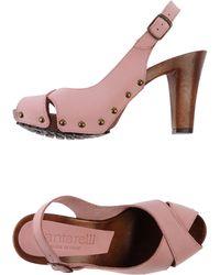 Cantarelli Pink Open-toe Mule - Lyst