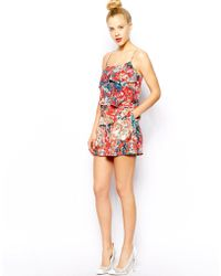 Oasis Blurred Ditsy Print Short - Lyst