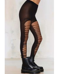 Look From London - Slash Stash Fishnet Tights - Lyst