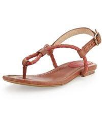 Frye Madison Braided Loop Thong Sandal - Lyst