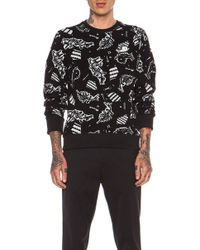 Kenzo Monster Jacquard Wool Sweatshirt - Lyst