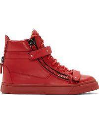 Giuseppe Zanotti Red Monochrome London Donna Birel Sneakers - Lyst