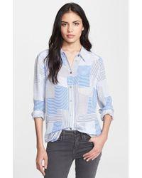 Equipment 'Reese' Mixed Print Silk Shirt - Lyst