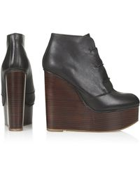 Topshop Soraya Lace-Up Wedges - Lyst