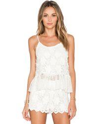 Alexis Reza Crochet Tank white - Lyst