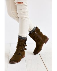 Dolce Vita Ferin Belted Suede Boot - Lyst