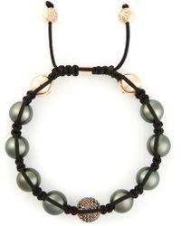 Shamballa Jewels - Diamond Embellished Detail Braided Bracelet - Lyst