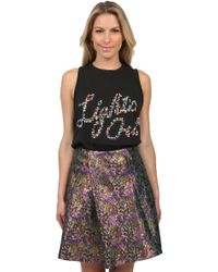 3.1 Phillip Lim Lights Out Tank in Black - Lyst