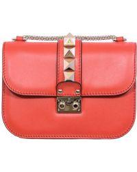 Valentino | Orange Small Lock Shoulder Bag | Lyst