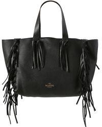 Valentino C-Rockee Deer Embossed Leather Bag - Lyst