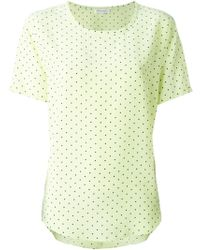 Equipment Dotted Pattern Blouse - Lyst