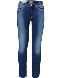 Acne Studios Blue Denim Pants - Lyst