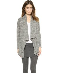 Splendid Marble Thermal Cardigan  - Lyst