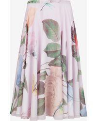 Ted Baker Distinguishing Rose Midi Skirt - Lyst