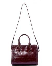 Alexander McQueen - Burgundy Small Padlock Leather Bag - Lyst
