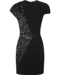 Narciso Rodriguez Broken Stripe Jacquard Dress - Lyst