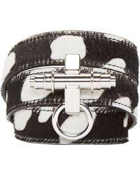 Givenchy Black Calf_hair Obsedia Wrap_around Bracelet - Lyst