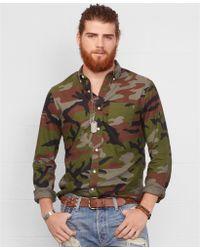 Denim & Supply Ralph Lauren Camo Oxford Shirt - Lyst