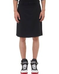 Givenchy Flap Front Shorts - Lyst