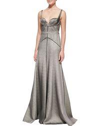 J. Mendel Metallic Fullskirt Gown - Lyst