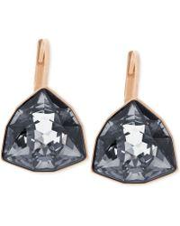 Swarovski Rose Gold Tone Trillioncut Leverback Earrings - Lyst