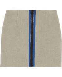 Opening Ceremony Scuba Woolblend Mini Skirt - Lyst
