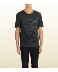 Gucci Flora Print Tshirt - Lyst