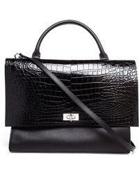 Givenchy Croc-Embossed Shark Bag - Lyst