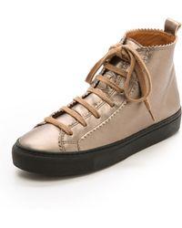 Rachel Comey Pops High Top Sneakers - Gold - Lyst
