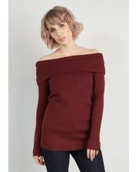 ModCloth | Timeless Temptation Top In Merlot | Lyst
