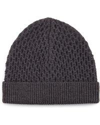 Theory - Cannan Textured Wool Beanie Hat - Lyst