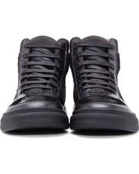 Marc Jacobs Black Leather And Lurex Sneakers - Lyst