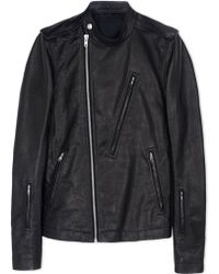 Rick Owens | Leather Outerwear | Lyst