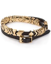 House Of Harlow Aztec Leather Wrap Bracelet - Lyst