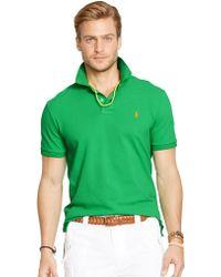 Polo Ralph Lauren Custom-Fit Mesh Polo Shirt - Lyst