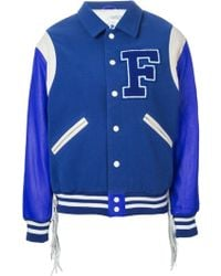 Filles A Papa Fringed Baseball Jacket - Lyst