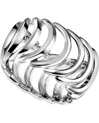 CALVIN KLEIN 205W39NYC - Stainless Steel Curved Link Ring - Lyst