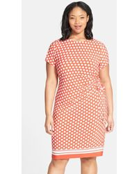 Eliza J Side Tie Jersey Sheath Dress - Lyst
