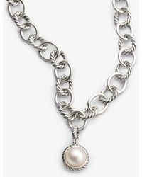 David Yurman Cable Collectibles Pearl Charm - Lyst