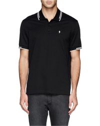 Neil Barrett Lightning Bolt Logo Polo Shirt - Lyst