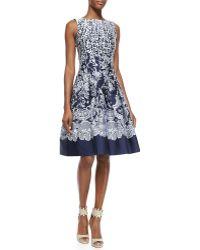 Oscar de la Renta Brocade A-Line Dress - Lyst