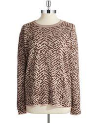 Vince Camuto Zebra Print Sweatshirt - Lyst