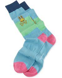 Psycho Bunny Colorblock Knit Socks - Lyst