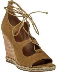 Tory Burch   Raya Lace-Up Wedge Sandals   Lyst
