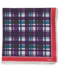W.r.k. - Linen Pocket Square - Purple - Lyst