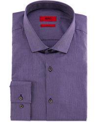Hugo Boss Easton Slim Fit Stripe Dress Shirt - Lyst